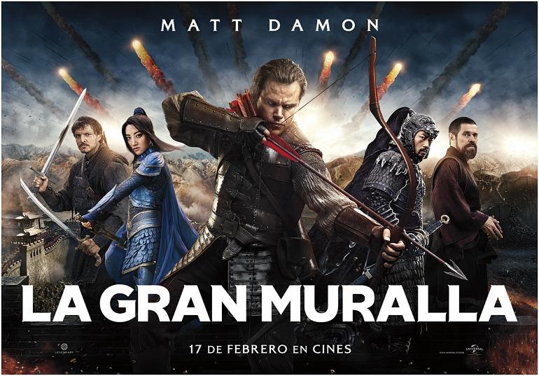 Sorteamos 5 entradas dobles para ver La Gran Muralla en cines [Resultados]