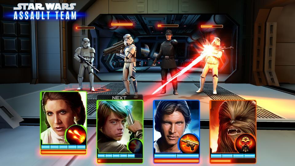 Anunciado Star Wars: Assault Team, un juego de combate de cartas para móviles