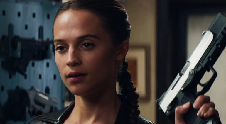 Alicia Vikander caracterizada como Lara Croft