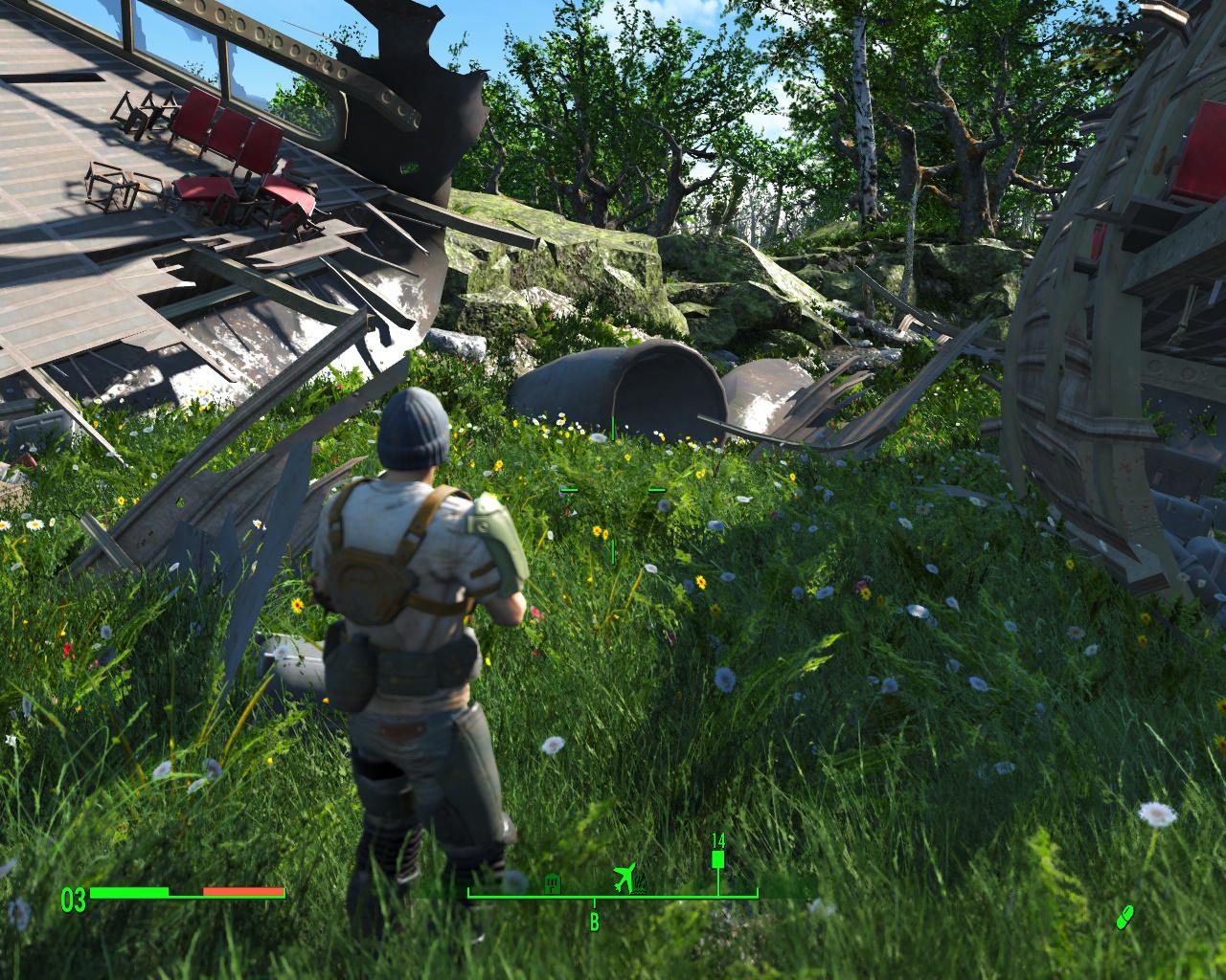 Resurrection, el mod que añade vegetación y color verde al Boston de Fallout 4