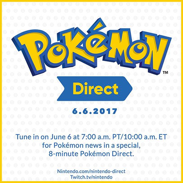 Pokémon protagonizará el 6 de junio su propio Nintendo Direct