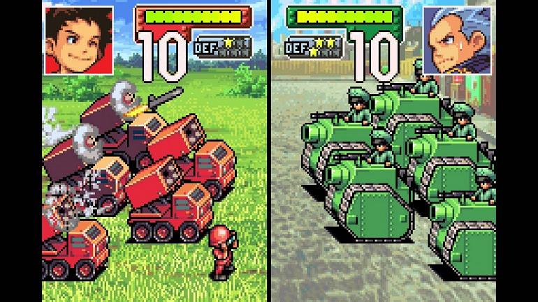 Captura de Advance Wars de Game Boy Advance