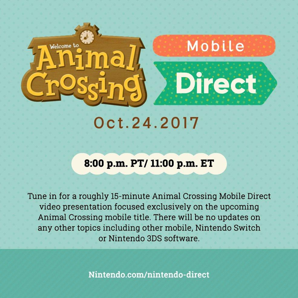 Nintendo dedicará un Direct al esperado Animal Crossing para móviles