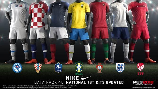 PES 2018 recibe el Data Pack 4.0 con nuevas camisetas y caras de jugadores