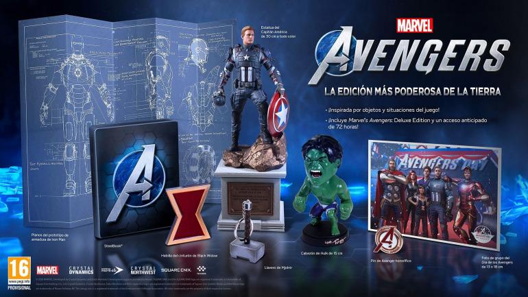 Capitán América es una de las piezas clave de la edición para coleccionistas de Los vengadores.