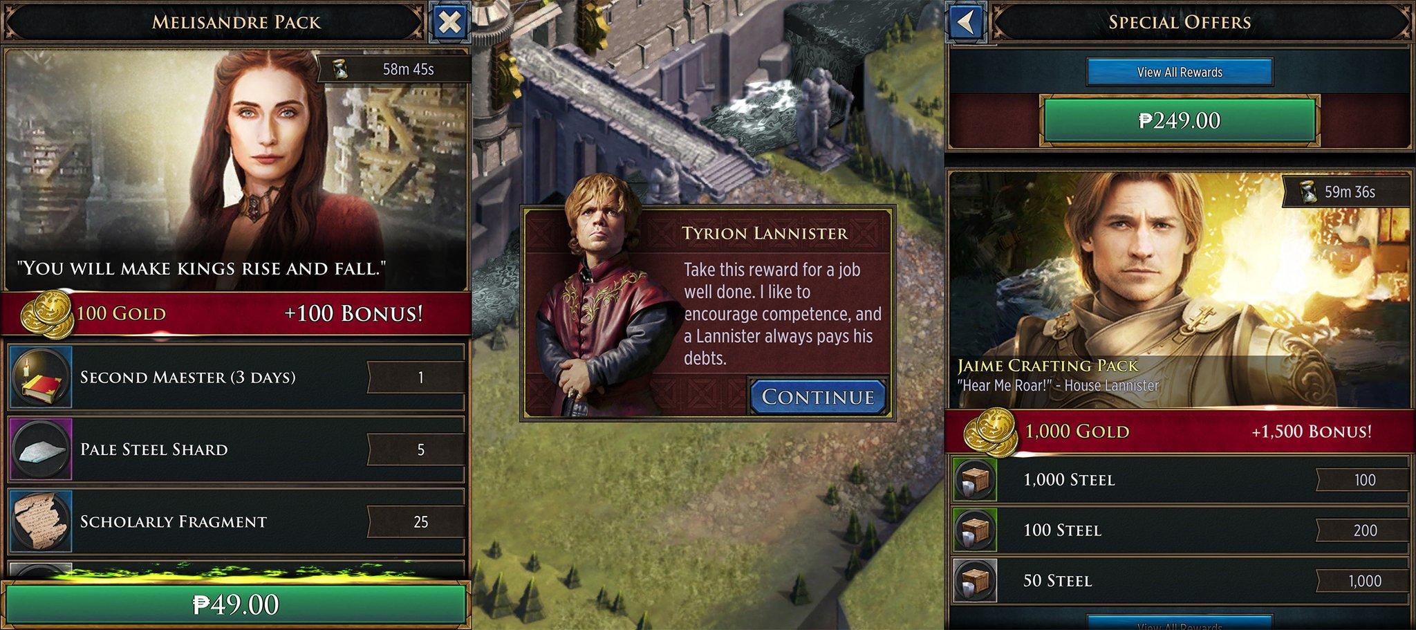 Este mismo año y para móviles se lanza Game of Thrones: Conquest