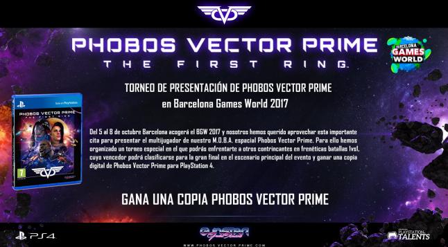 Phobos Vector Prime: El shooter español tendrá torneo en Barcelona Games World