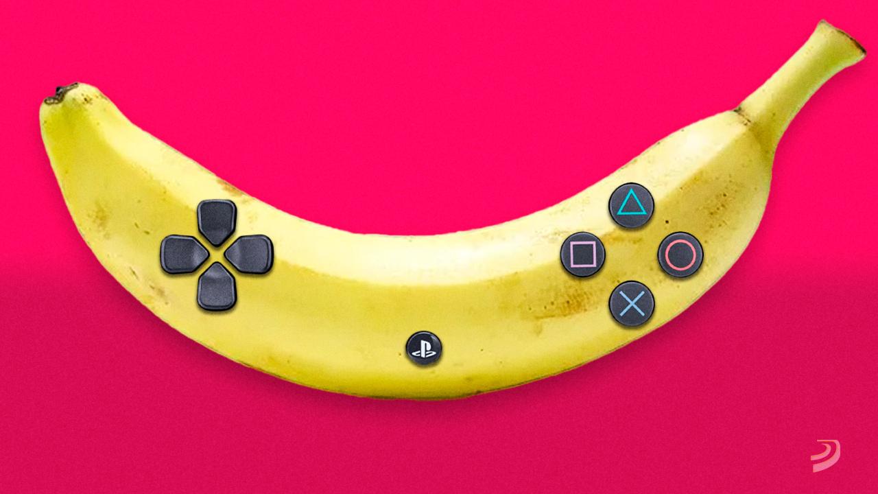 PlayStation quiere que cambies tu mando por unos plátanos o cualquier objeto para jugar, y no es broma
