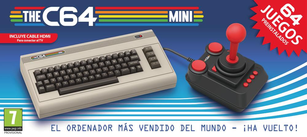 Anunciado TheC64 Mini: un Commodore con 64 juegos instalados