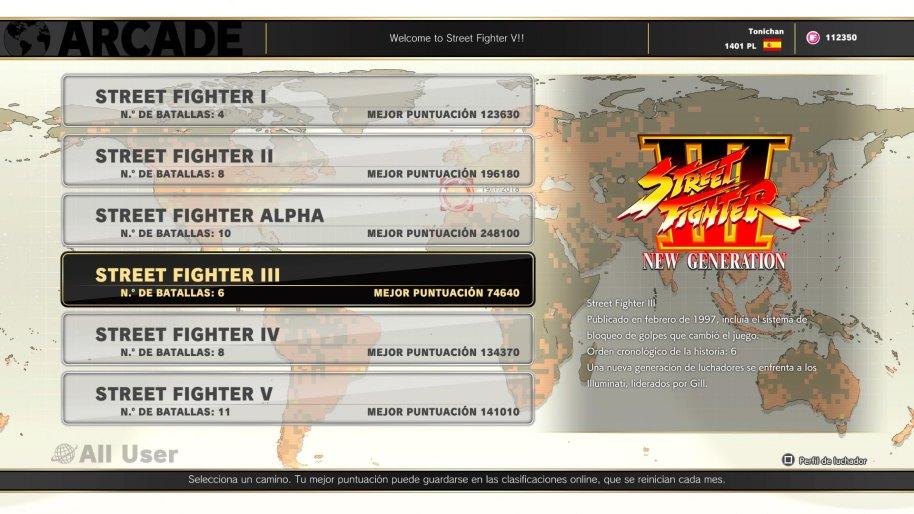 Street Fighter V Arcade Edition análisis