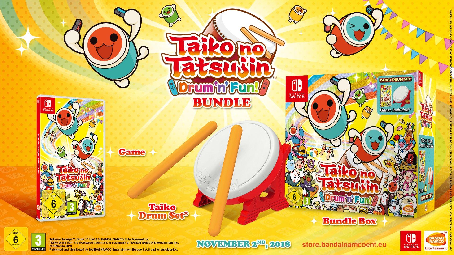 Taiko no Tatsujin de Nintendo Switch se deja ver en vídeo