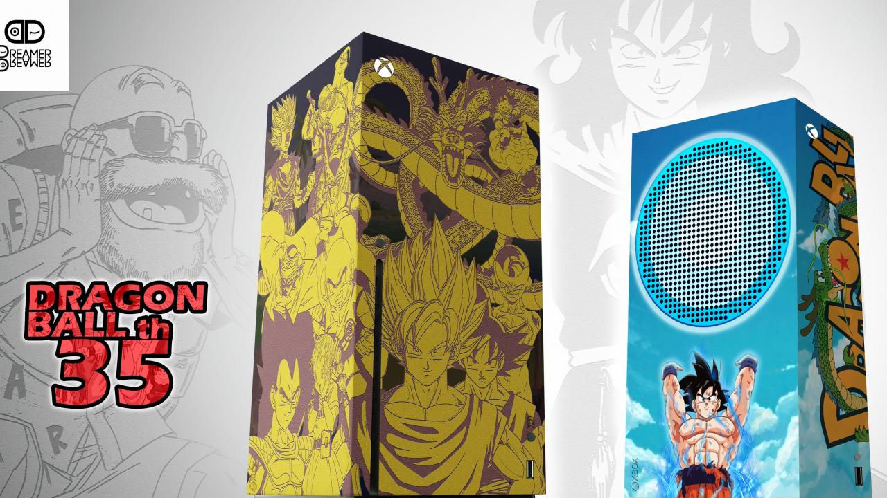 ¿Xbox Series X|S decoradas con Dragon Ball? Merece la pena ver estos diseños creados por un fan
