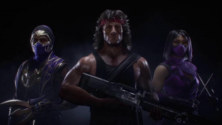Los luchadores del Kombat Pass 2, con Rambo a la cabeza.