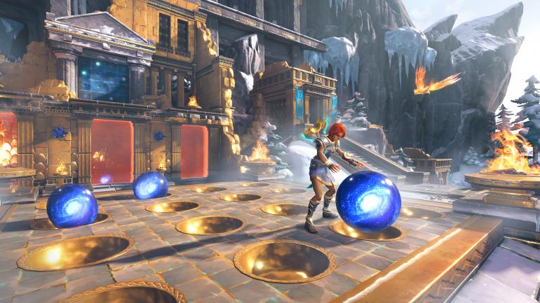 Los puzles son una de las claves de Immortals Fenyx Rising, con rompecabezas de todo tipo repartidos por el escenario.