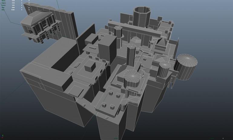 El Museo. Mapa multijugador para Uncharted 2. Imagen: Kurt Margenau.