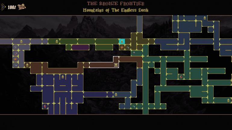 Las áreas de Blasphemous están marcadas por un código de color. Cada una tiene una temática, mecánica y progresión diferente.