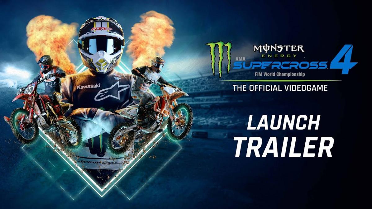 Carreras de motos más extremas: tráiler de lanzamiento de Monster Energy Supercross 4