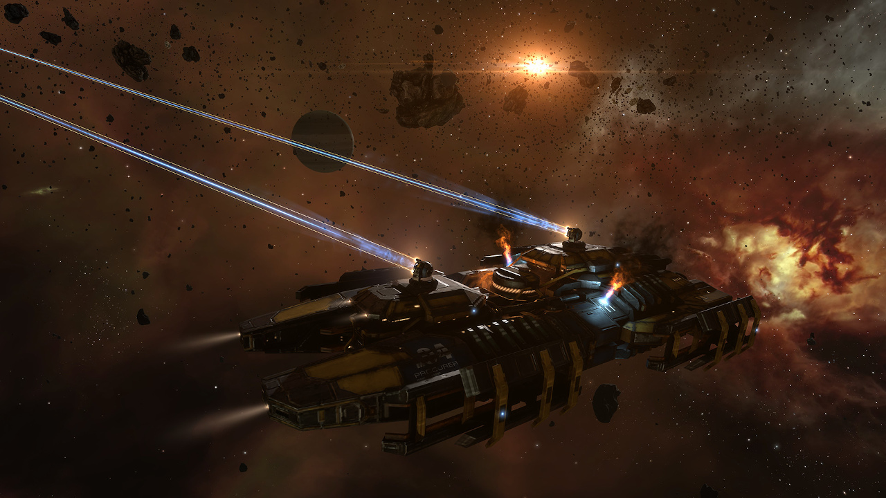 If you never played EVE Online because it was very difficult, now you will learn to play as a space pilot
