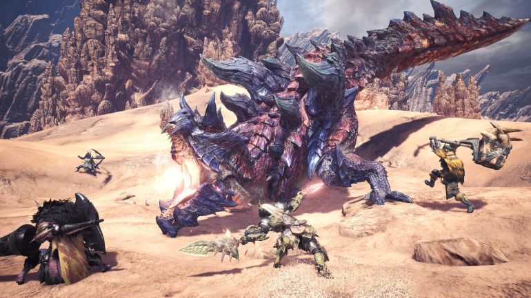 Monster Hunter World, one of Capcom's hits this generation