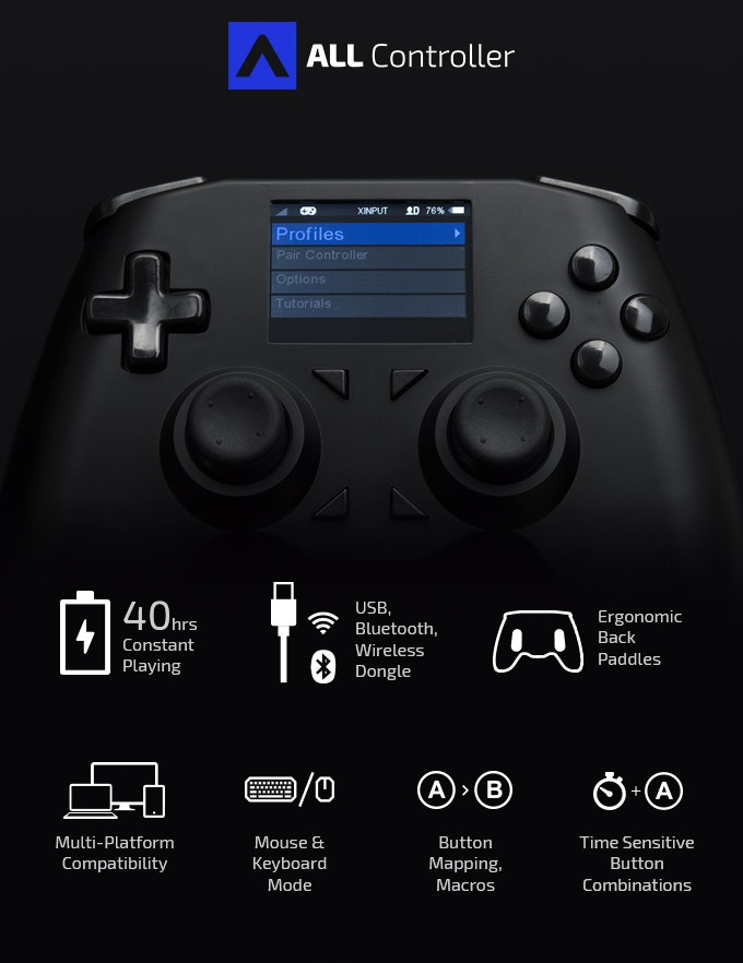 All Controller, el mando universal de videojuegos, abre su Kickstarter