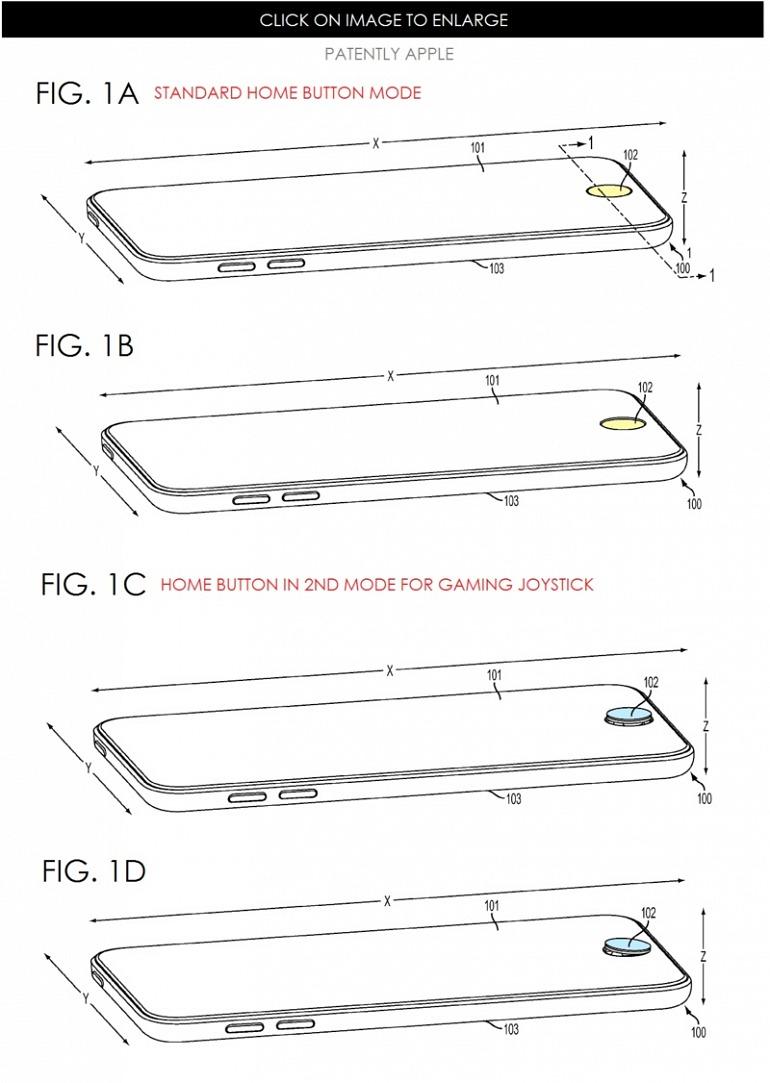 Una propuesta interesante por parte de Apple que nunca llegó a ver la luz. Podría haber llegado a ser una solución elegante para mantener un control analógico sin deformar la estructura del smartphone.