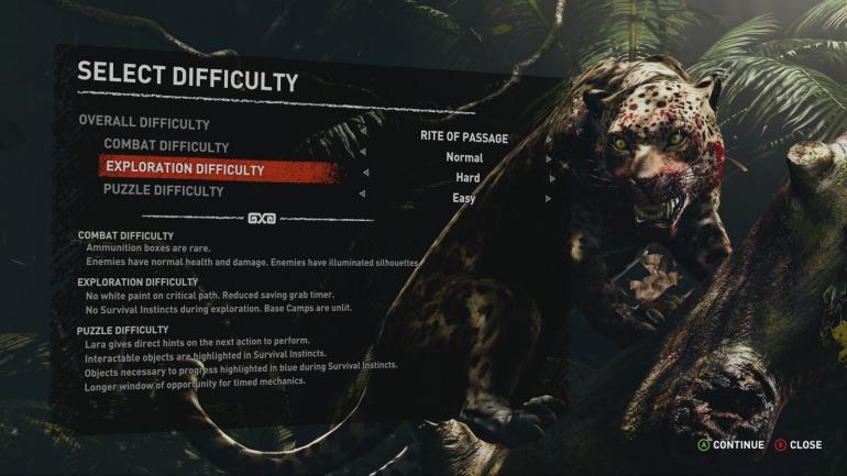 En Shadow of the Tomb Raider; los desarrolladores optaron por un sistema de selección de dificultad que tenía en cuenta varios aspectos jugables del título. Una propuesta interesante y útil que no se realiza a menudo.