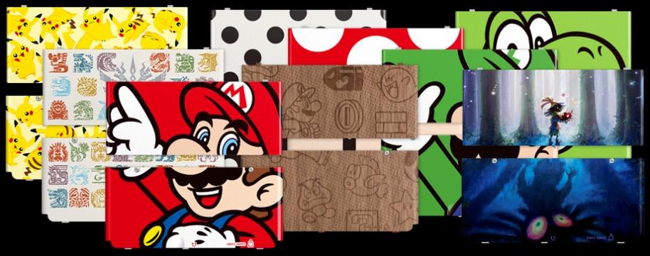 Con New Nintendo 3DS no sólo llevaremos en su interior a Mario, Luigi, Peach, Yoshi y compañía con sus juegos… sino también por fuera. Una de las grandes apuestas de esta portátil son sus carcasas intercambiables (delanteras y traseras) en el modelo normal. Tanto en la versión blanca como negra podremos usar los 12 conjuntos de carcasas que se pondrán a la venta el próximo 13 de febrero.
