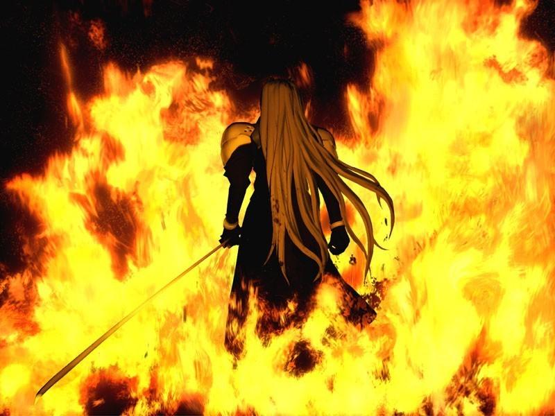 Sefirot atravesando las llamas: una de las secuencias más famosas de la obra.