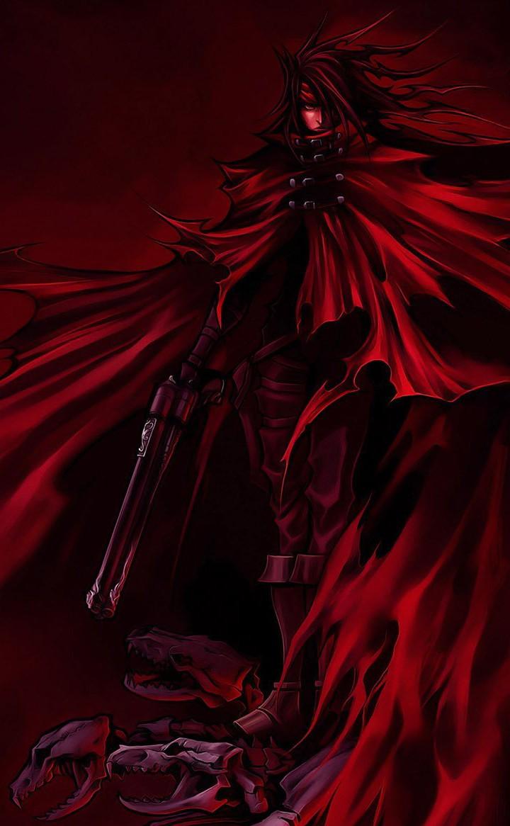 """Vincent Valentine en Dirge of Cerberus. El juego no era gran cosa, pero todos recordamos la inmensa capa del """"vampiro""""."""