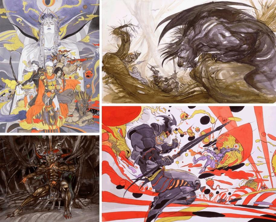 Yoshitaka Amano es toda una leyenda en el campo de la ilustración de videojuegos. Comenzó su carrera en anime antes de lanzarse a trabajar en el primer Final Fantasy. Con el tiempo se ha convertido en un icono, hasta el día de hoy.