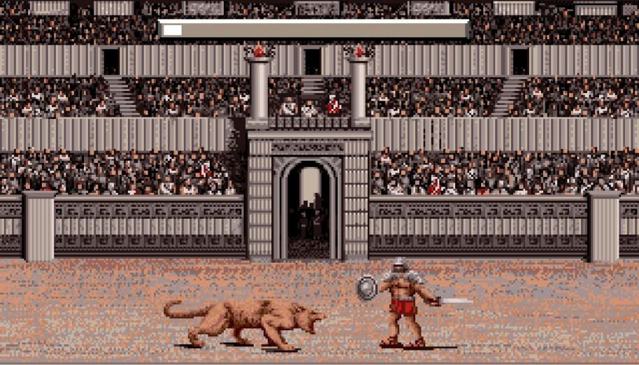 Los combates con gladiadores son muy sencillos, pero con un poco de habilidad nos permitirán subir la moral del pueblo.