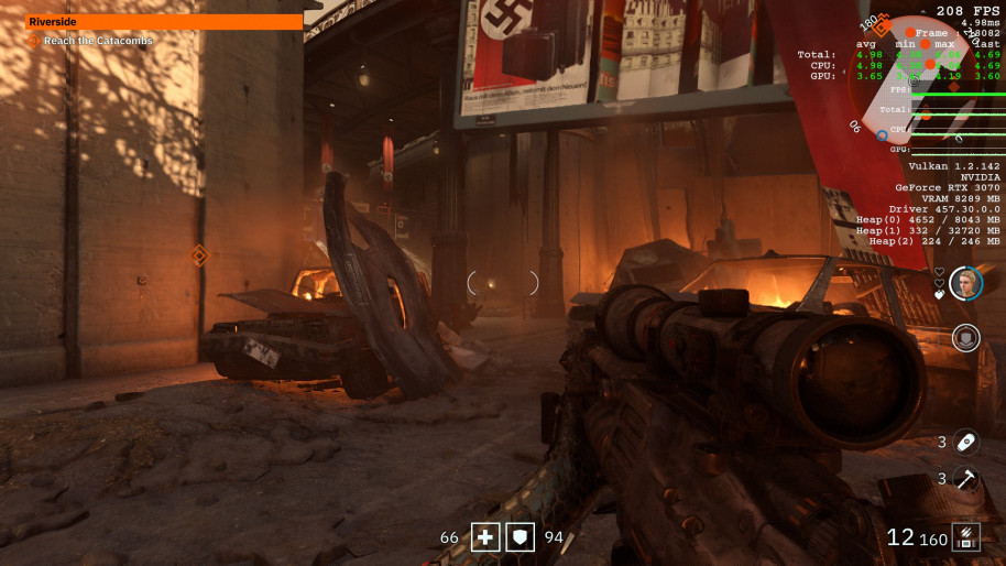 Wolfenstein: Youngblood, 1080p Ultra.