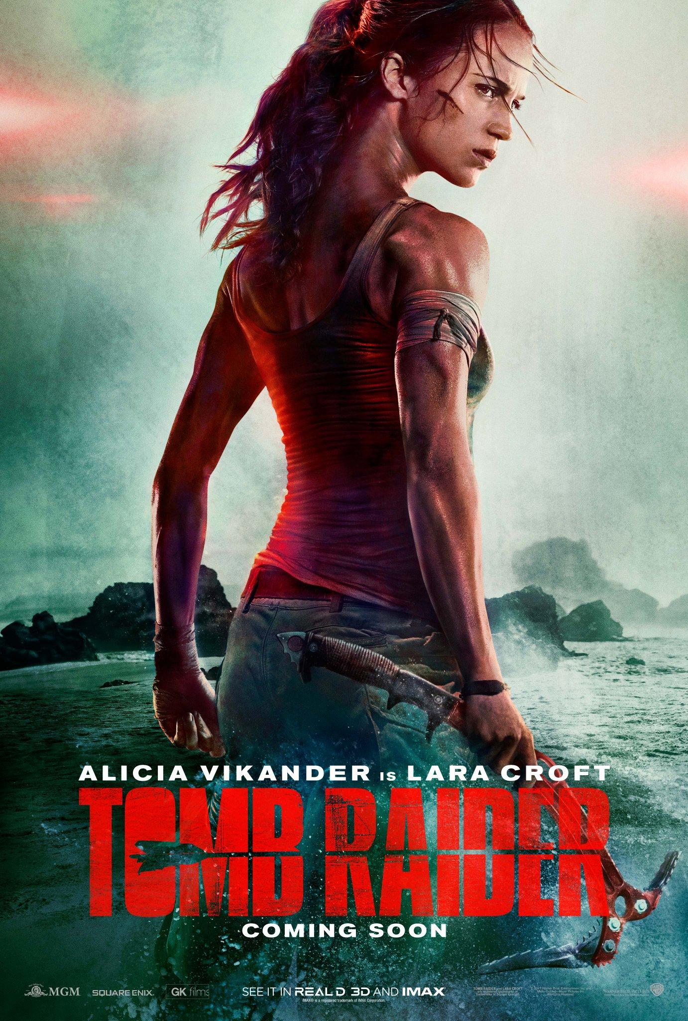 Así es el póster de la nueva película de Tomb Raider