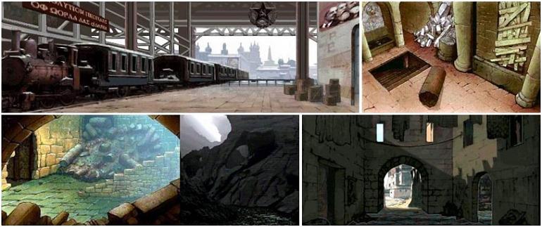 Algunos artes conceptuales del cancelado videojuego de Indiana Jones