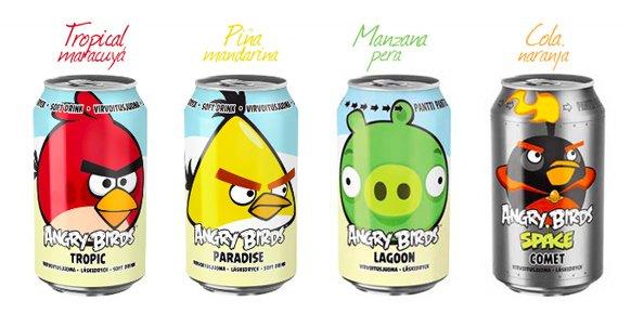 Bebidas refrescantes de la marca Angry Birds