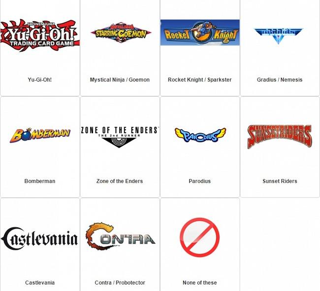 Konami lanza una encuesta para conocer las sagas más queridas por sus fans