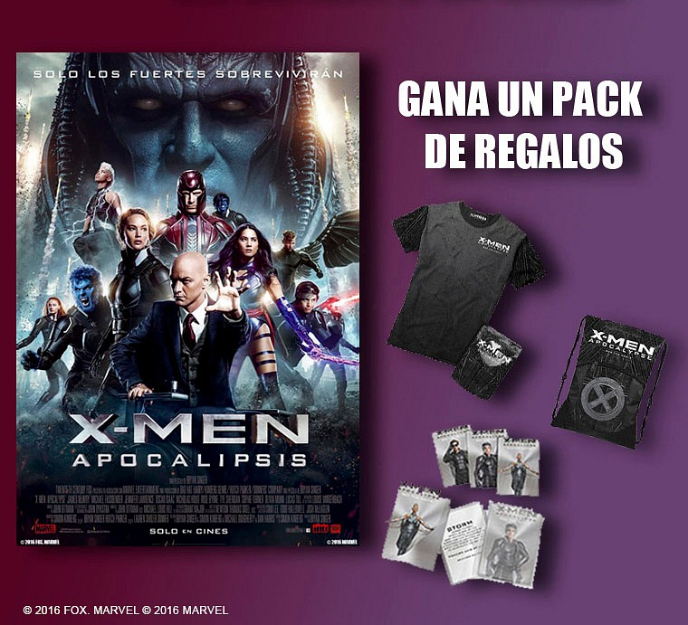 ¡Gana un pack de regalos de X-Men: Apocalipsis!