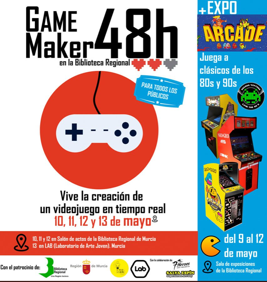 Murcia celebra el evento Game Maker 48 Horas hasta el 13 de mayo
