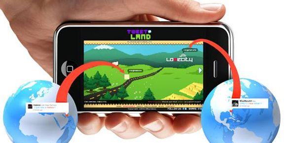 Desde hoy está disponible para iPhone la serie de juegos Tweet Land: Dos juegos construido a base de Twitter en tiempo real