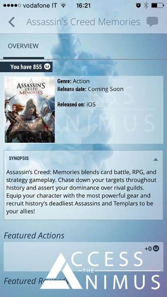 Assassin's Creed Memories filtrado para dispositivos móviles
