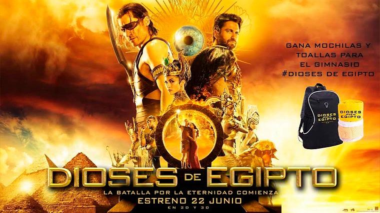 Gana packs de regalos de la película Dioses de Egipto