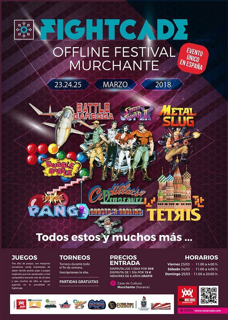 Fightcade Offline Festival 2.0 convierte a Murchante en la capital española del juego arcade
