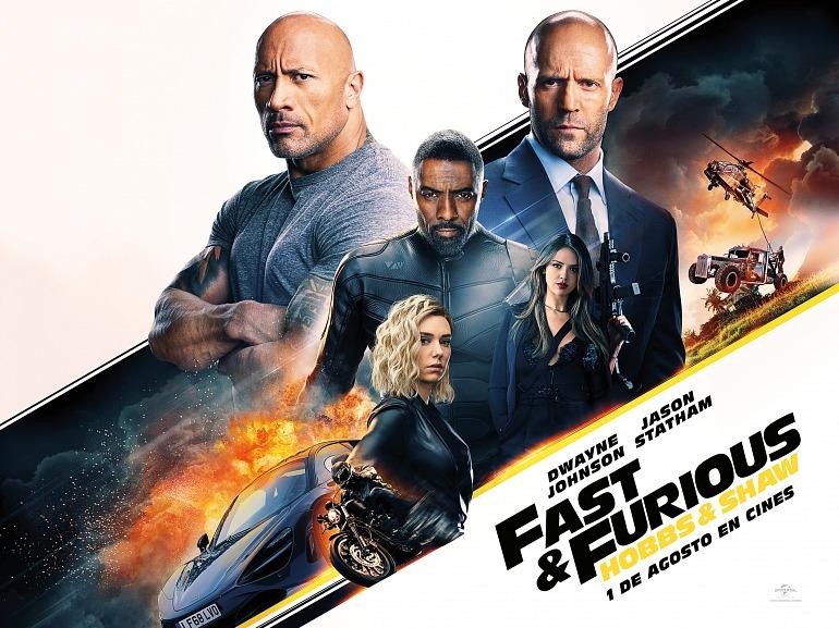 Sorteamos packs de merchandising de la película Fast & Furious: Hobbs & Shaw