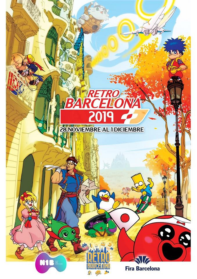 RetroBarcelona 2019 homenajea en su precioso cartel a Barcelona y Konami