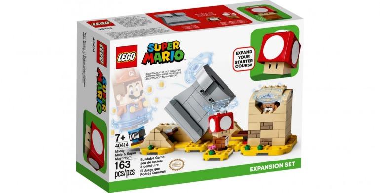 LEGO Super Mario cuenta con un tercer set de expansión: Topo Monty y Superchampiñón