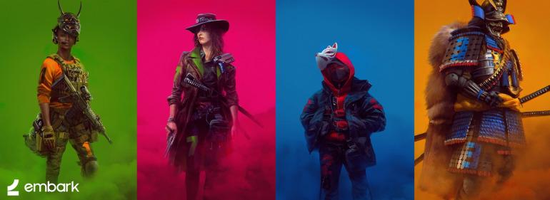 Diseños de personajes del segundo proyecto del estudio