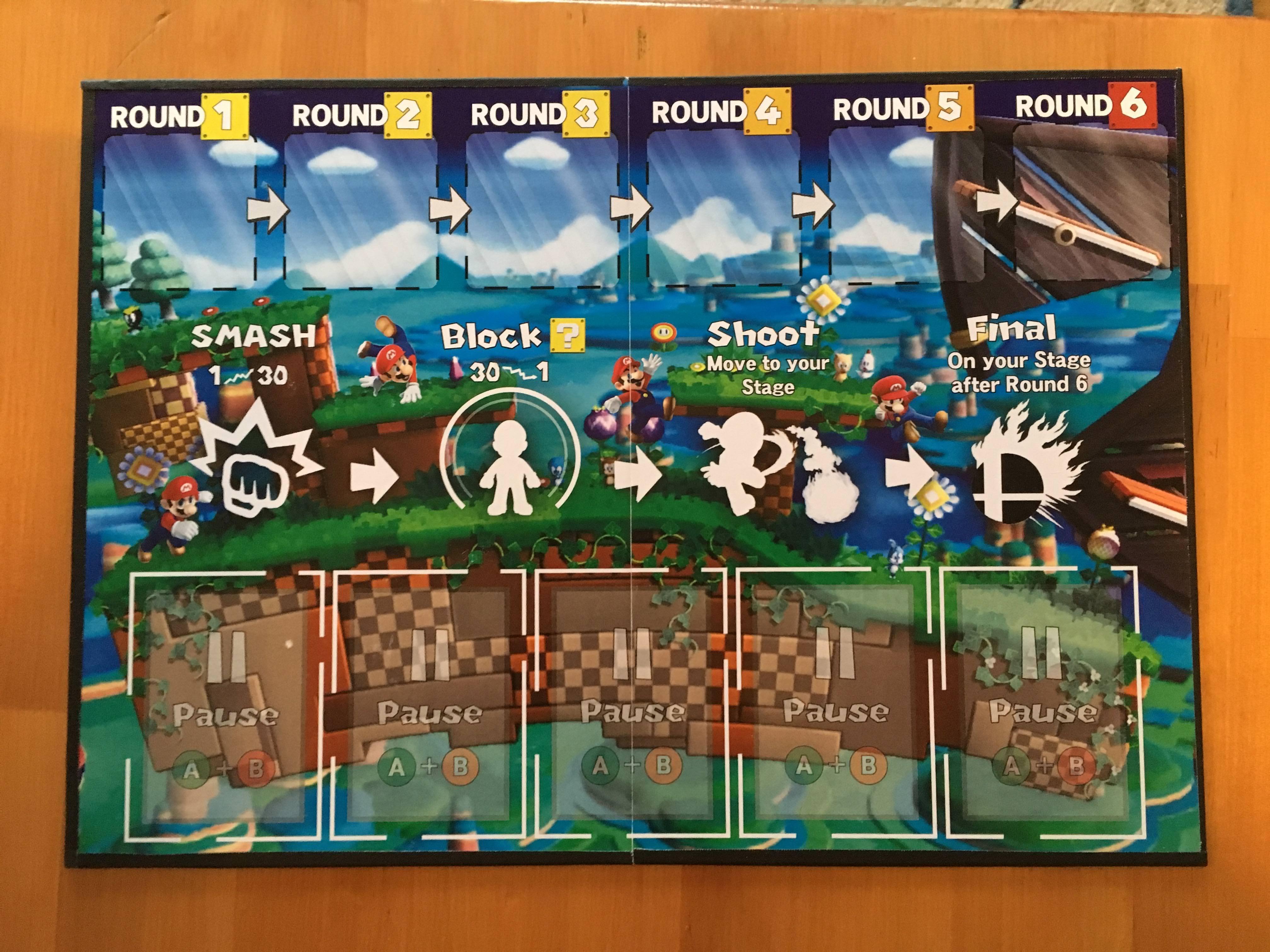 Un fan crea un juego de mesa de Super Smash Bros