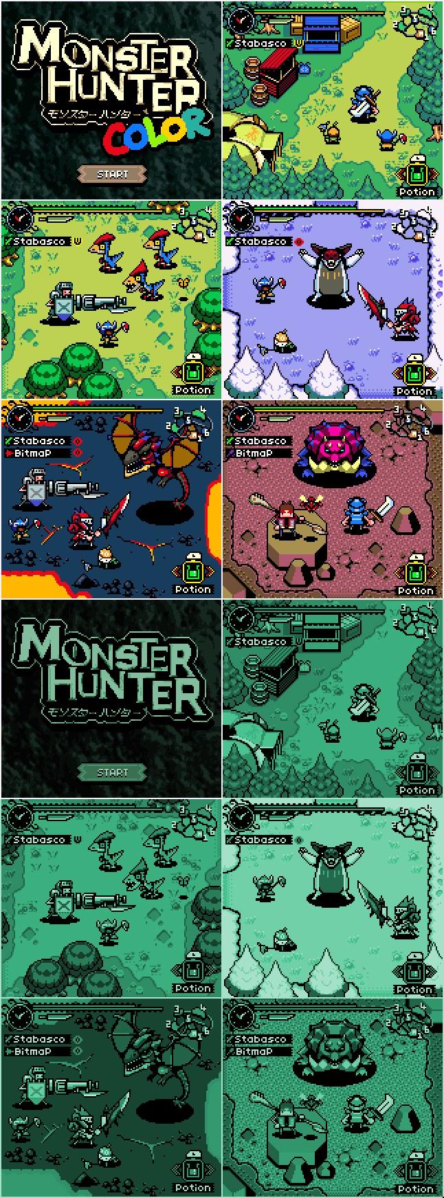 Imaginan cómo sería Monster Hunter en Game Boy y Game Boy Color