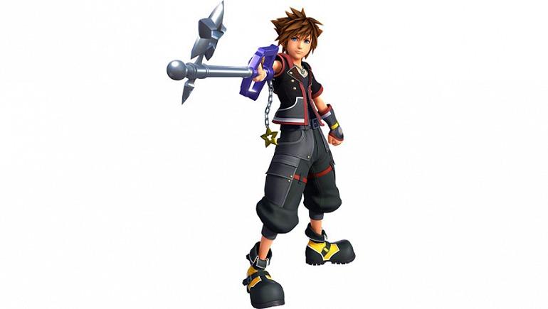 Sora portando la Starlight Keyblade que puedes conseguir superando retos de puntuación en los minijuegos clásicos.